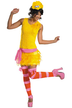 ht big bird costume nt 121010 vblog Sassy Big Bird Costume Flies Off  Shelves After 1st Presidential Debate