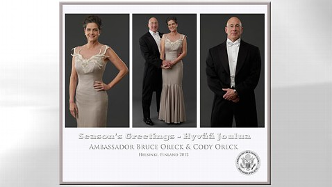 ht bruce oreck wife jp 121220 wblog US Ambassador Shows Muscle in Holiday Card