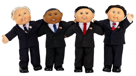 Get your own president obama and mitt romney cabbage patch dolls.