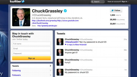 ht chuck grassley twitter nt 2 120123 wblog Sen. Grassleys Twitter Account Hacked by SOPA Protesters