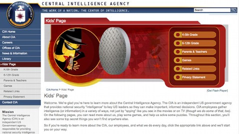 ht cia kids webpage nt 111104 wblog CIA and NSA Websites Invite Children