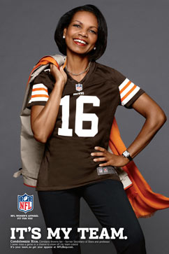 ht condoleezza team mr 120815 vblog Condoleezza Rice Makes Modeling Debut in NFL Jersey