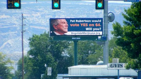 ht day robertson marijuana billboard lpl 120716 wblog Pro Pot Activists Put Pat Robertson on Marijuana Billboard