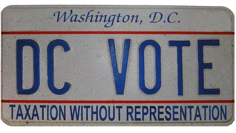 ht dc vote license plate ll 130115 wblog LIVE UPDATES: Inauguration Day 2013