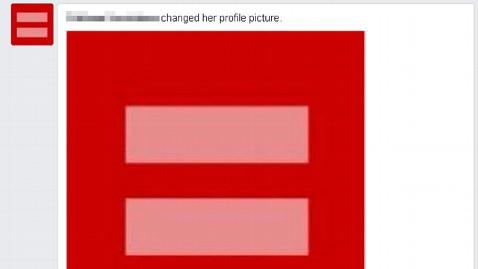 Red profile picture