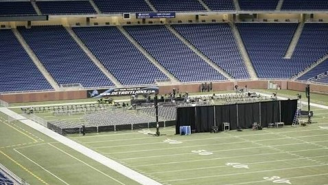 ht ford field romney nt 120224 wblog Why Ford Field is Perfect Metaphor for the GOP Race