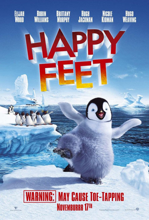 Cute movie with lots of political undertones elderly penguin calls