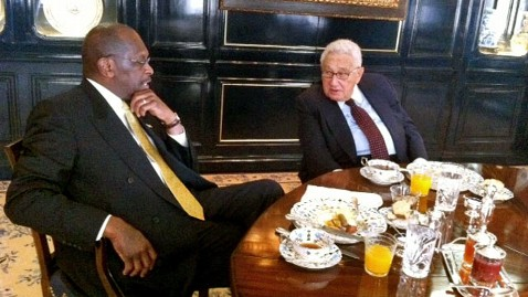ht henry kissenger herman cain breakfast ll 111103 wblog Herman Cain Says Henry Kissinger Job Offer Was a Joke