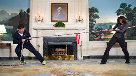 ht jimmy fallon michelle obama ll 120207 wblog Michelle Obama in Tug of War at White House