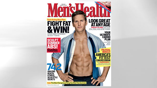 ht mens health aaron schock ll 110509 wmain Congressmen Swear By P90X Exercise DVDs