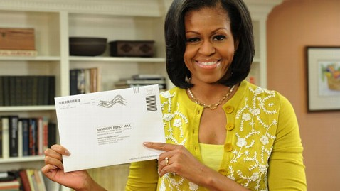 ht michelle obama ballot jef 121015 wblog Obamas Cast Ballots Early, A Presidential First
