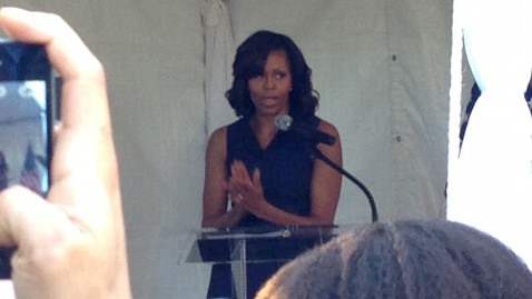 ht michelle obama heckled lpl 130605 wblog Heckler: Michelle Obama Was in My Face
