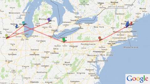 ht mitt romney route dm 120615 wblog How He Rolls: A Look At Mitt Romneys Traveling Roadshow (The Note)