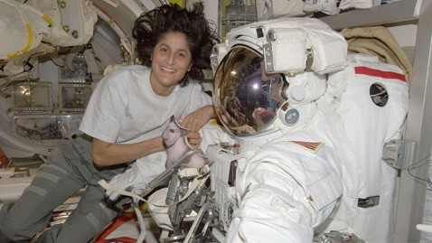 ht nasa sunita williams space station mi 121106 wblog How Astronauts Vote From Space