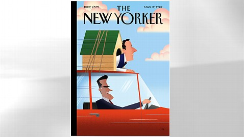 ht new yorker romney santorum jp 120305 wblog New Yorker Cover Puts Santorum in Doghouse, Romney in Drivers Seat