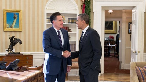 ht obama romney meeting wy 121129 wblog New Revelations From Obama/Romney Campaign on Immigration, Facebook and That Eastwood Speech