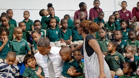 ht obama visiting kids mi 121024 wblog Photo of the Day: Caption Contest