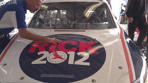 ht rick santorum car lt 120225 wblog Santorum Campaign Enters a Different Type of Race