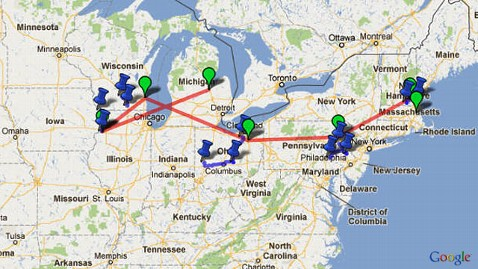 ht romney tour map2 jp 120618 wblog Where in America Is Mitt Romney?
