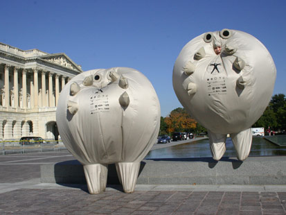 Survivaballs Protest at the U.S.Capitol, October 2009