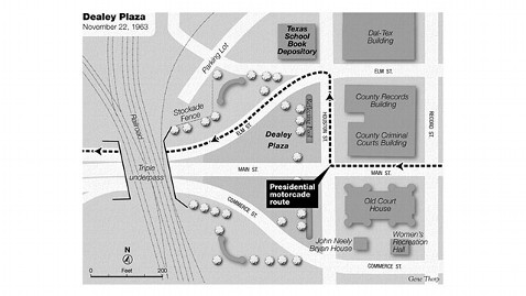 ht this week Dealey Plaza map jt 121006 wblog Web Extra: Read a Chapter From Bill OReillys New Book