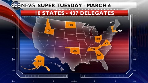 super tuesday states map wblog ABC News Crystal Ball: Super Tuesday Edition