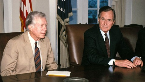 zp jimmy carter george bush ll 120626 wblog Is Obamas Foreign Policy More Like Carters or Bush Sr.s?