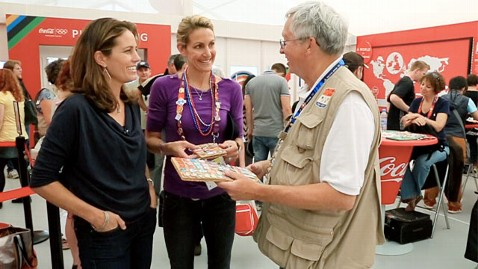 abc Julie foudy summer sanders don bigsby ll 120808 wblog In Olympic Sport of Pin Trading, Anyone Can Medal