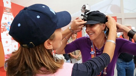 abc julie foudy summer sanders 1 ll 120808 wblog In Olympic Sport of Pin Trading, Anyone Can Medal