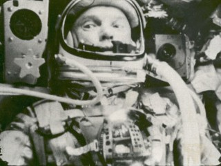 PHOTO: John Glenn is seen during his space flight in the Friendship 7 Mercury spacecraft, weightless and traveling at 17,500 mph., in this Feb. 20, 1962 file photo. The image, provided by NASA, was ...