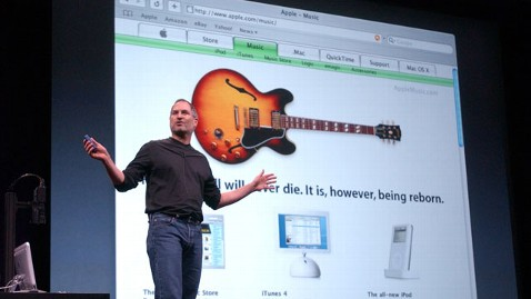 ap steve jobs itunes announcement 2003 thg 130425 wblog Apple Downloads a Decade of iTunes