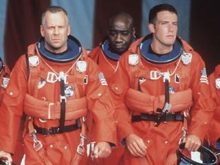 "PHOTO: Bruce Willis and Ben Affleck are shown in a scene from ""Armageddon."""