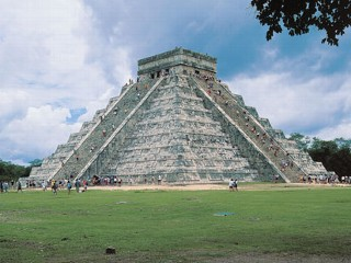 PHOTO: Visitors scale the Pyramid Of The Magician at Uxmal in the Yucatan in Mexico in this Feb. 7, 2007.