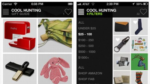 ht CoolHunting kb 121207 wblog App of the Week: Cool Hunting Gift Guide