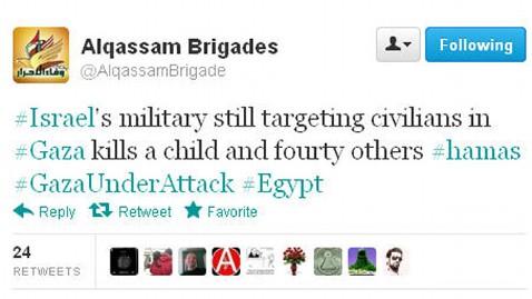 ht alqassam brigades attack kb 121114 wblog Twitter War Erupts Between Israel and Hamas During Gaza Strikes