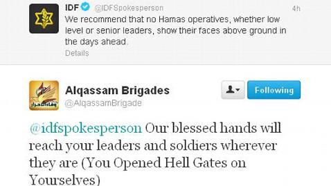 ht alqassam brigades idfs kb 121114 wblog Twitter War Erupts Between Israel and Hamas During Gaza Strikes