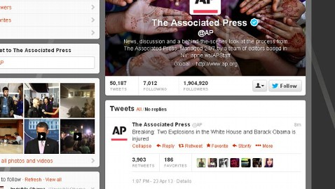 ht ap hacked nt 130423 wblog AP Twitter Hacked, Sends False Tweet of Explosions at White House