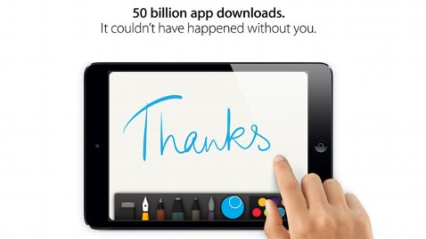 ht apple hits 50 downloads wblog Ohio Man Downloaded Apples 50 Billionth App and Was Suddenly $10K Richer