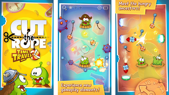 ht cut the rope nt 130426 wmain App of the Week: Cut the Rope: Time Travel
