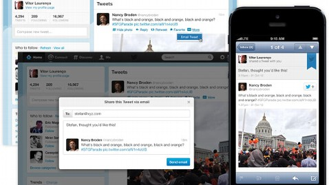ht email tweet kb 121115 wblog Twitter Adds Email Sharing; Facebook Adds Share Button to Apps