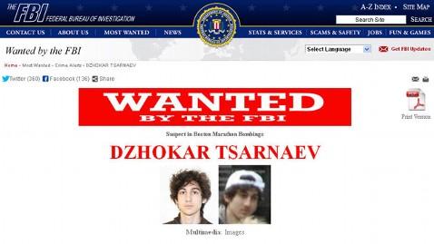 ht fbi wanted poster lpl 130419 wblog FBI Updates Bostons Digital Wanted Billboards With Bombing Suspect