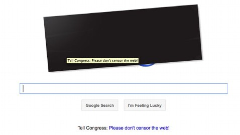ht google dm 120118 wblog SOPA Blackout: Wikipedia, Google, Wired Protest Internet Censorship