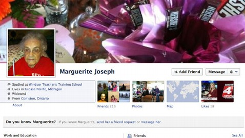 ht marguerite joseph facebook lpl 130221 wblog Facebook Bug Made Michigan Woman, 104, Lie About Age