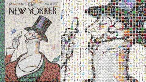 The New Yorker S Eustace Tilley Made With Iphone Emoji Icons Abc News