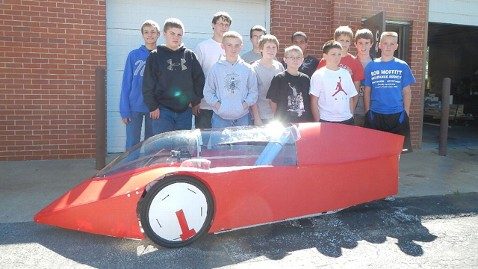 ht missouri car kids jrs 120425 wblog Gas Price Antidote: Junior High Students Build Car That Gets 353 MPG
