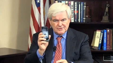 ht newt gingrich cellphone jef 130513 wblog Newt Gingrich Wants to Rename the Cell Phone