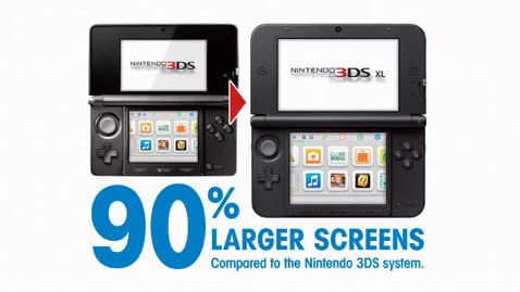 ht nintendo 90 larger screen thg 120622 wblog Nintendo Super Sizes its 3DS Handheld With 3DS XL