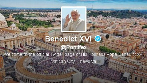 ht pope twitter mi 130222 wblog Pope Benedict XVI Will Send Final Tweet From Vatican on Feb. 28