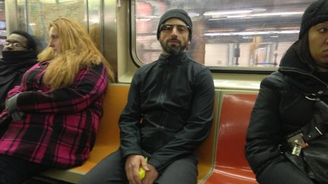 ht sergey brin kb 130121 wblog Was That Sergey Brin Wearing Google Glasses in the New York Subway?