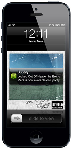 ht spotify bruno mars iphone ll 121206 vblog Spotify Improves Music Discovery, Social Features